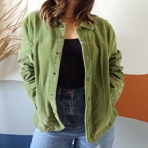 Western Inspired Vintage Green Corduroy Jacket